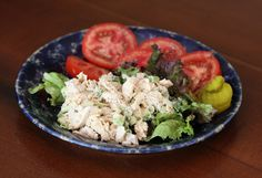 Summertime Tuna Salad with Pineapple Slices