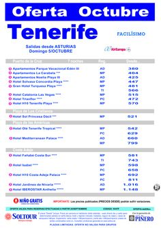 Oferta hoteles en TENERIFE, salida 5 Octubre desde Asturias ultimo minuto - http://zocotours.com/oferta-hoteles-en-tenerife-salida-5-octubre-desde-asturias-ultimo-minuto-2/
