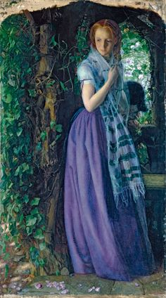 Image is Copyrighted and Property of its respective owner About the ArtistArthur Hughes January 1832 – 22 December was an English painter and illustrator associated with the Pre-Raphaelite Brotherhood. Hughes was born in London. Dante Gabriel Rossetti, John Everett Millais, Pre Raphaelite Paintings, Lawrence Alma Tadema, Pre Raphaelite Brotherhood, Google Art Project, Tate Gallery, Malva, Victorian Art