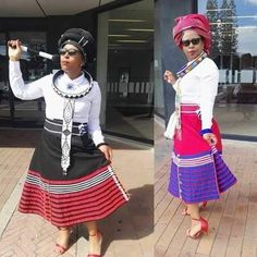 xhosa attire 2019 for African girls - fashion ShweShwe 1 South African Dresses, African Wear Dresses, African Fashion Ankara, African Print Fashion, African Attire, Sotho Traditional Dresses, South African Traditional Dresses, Traditional Outfits, African Dress Patterns