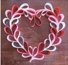Cute, easy Valentine wreath