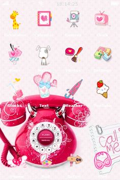 Cute pink phone iPhone theme
