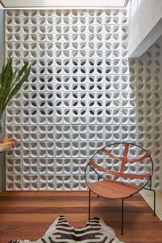 32 Awesome Decorative Concrete Block Wall – House The Culture 32 Awesome Decorative Concrete Block Wall - Haus der Kultur Decorative Concrete Blocks, Concrete Block Walls, Cinder Block Walls, Interior Exterior, Interior Architecture, Interior Design, Breeze Block Wall, Jaali Design, California Room