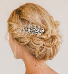 Idée coiffure de mariage : un chignon flou - Cosmopolitan.fr