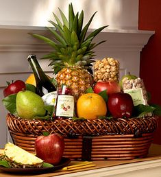 The premium selection fruit wine gift basket our premium basket bountiful fruit gourmet gift basket large negle