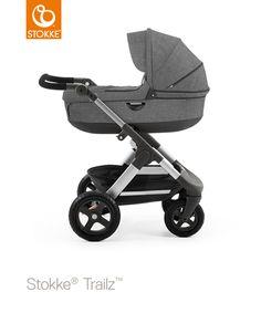 Wózki dla dzieci, Foteliki dziecięce, Sklep artykuły dla niemowląt, 4KIDS » WÓZEK STOKKE® TRAILZ™ GŁĘBOKI black melange
