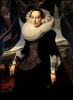 Thomas de Keyser - Portrait of a woman - Amsterdam ca. 1625