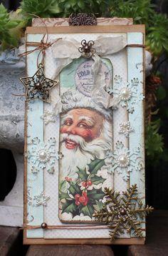 Christmas Labels, Old Christmas, Christmas Scrapbook, Vintage Christmas Cards, Vintage Cards, Holiday Cards, Xmas Cards Handmade, Winter Cards, Scrapbook Cards