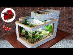 Villa, Thermocol Craft, Garden Projects, Diy Projects, Garden Ideas, Home Crafts, Diy And Crafts, Diy Water Fountain, Mini Aquarium