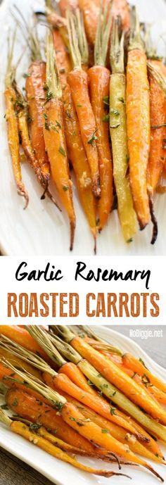 Garlic Rosemary Roasted Carrots   NoBiggie.net