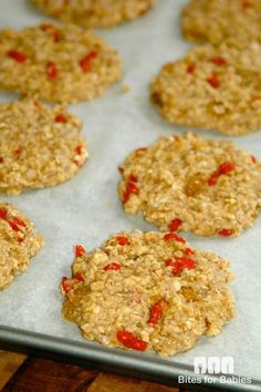 These chewy vegan oatmeal goji berry cookies are loaded with wholesome ingredients, such as fiber rich oats and goji berries and omega 3 rich flax seed.
