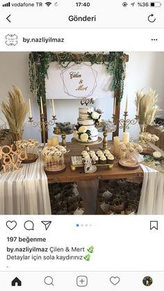 Pin by Jenny Tibasosa on Bodas in 2019 Cake Table Decorations, Birthday Decorations, Reindeer Cakes, Wedding Henna, Engagement Party Decorations, Wedding Crafts, Wedding Table, Wedding Engagement, Wedding Styles