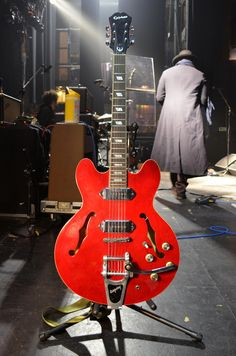 "Gary Clark Jr :EPIPHONE CASINO REISSUE The Casino gives me the biggest range of what I'm looking for."" While he recently acquired an absolutely pristine vintage model that he can't seem to put down, his long-time main axe is a cherry red Korean model that he added a Bigsby to."