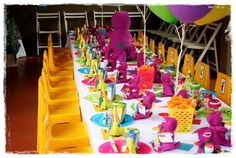 barney birthday pictures | Barney Theme Party - House of Creative Events - event planning ...