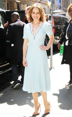 Emilia Clarke's Pre-Emmys Style Is Far From Her Game of Thrones Wardrobe | E! Online Mobile