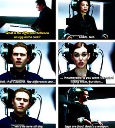 """""""What is the difference between an egg and a rock?"""" Agents of shield; the only light in darkness"""