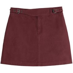 Marc by Marc Jacobs Cotton Mini Skirt (565 LTL) ❤ liked on Polyvore
