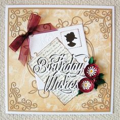 "Tonic Deco Frame ""Emily"", Birthday Wishes Sentiment die and flower punches."