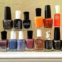 It's a polish party  Any suggestions on which color I should paint my nails?! #decisionsdecisions #polishparty #beautyaddict #nailpolish #prettycolors #ilovepacifica #pixibeauty #zoya #opi #essie #100percentpure #deborahlippmann
