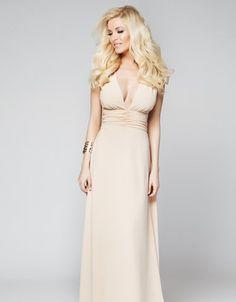 Φόρεμα maxi με σούρες - Κατερίνα Καινούργιου | Lynne.gr