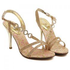 Gorgeous Sparking Glitter and Rhinestones Design Sandals For Women, GOLDEN, 37 in Sandals | DressLily.com