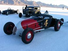 1927 FORD TRACK ROADSTER . . . on the salt