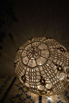 Ravelry: Light Ball / Ljusboll pattern by Annika Nilsson Crochet Ball, Crochet Doilies, Hand Crochet, Free Crochet, Green Craft, Ball Decorations, Crochet Decoration, Crochet Ornaments, Ball Lights