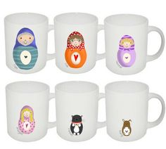 Personalised Russian Doll Family Mug Set - Lucy's World