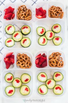 Cucumber Sushi Lunch Box Idea via @familyfresh