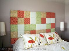 Or build a cushy headboard that hangs on the wall. | 23 Hacks For Your Tiny Bedroom