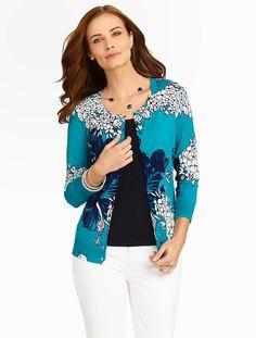Talbots - Island Hibiscus Charming Cardigan | Sweaters | Misses