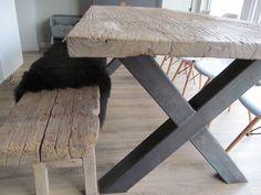 """Ein Satz von 2 Tischbeine,Model """"X"""", Metall, Gehäuse 10 cm x 10 cm. Maße: Hoch 73 cm x Breit 75 cm. Mit Metallplatte mit Löchern für einfache Montage unter einer Arbeitsplatte. Verwandelt eine..."""
