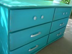 Before & After Turquoise dresser!