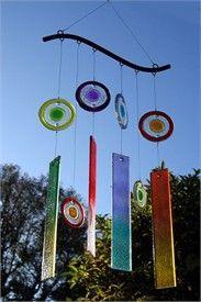 Rainbow windchime- glass windchime love the colours