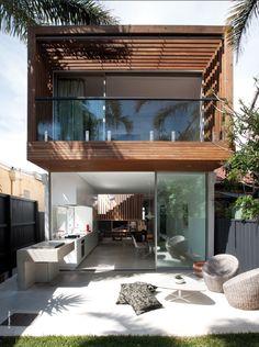 Super house design exterior and interior ideas Eckhaus, Casas Containers, Design Exterior, Modern Exterior, Facade Design, Exterior Homes, Interior Exterior, Room Interior, Interior Ideas