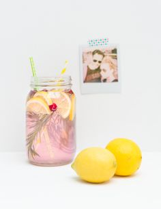 Roze limonade home-made