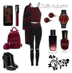 """Outfit Autumn"" by sophiebenson16 on Polyvore featuring Topshop, Rochas, NARS Cosmetics, Giuseppe Zanotti, Ted Baker, Lalique, Deborah Lippmann and Yves Saint Laurent"