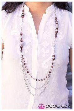 Enmeshed in Elegance Purple Neckalace