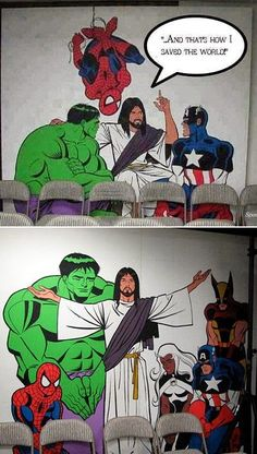 Ideas for superhero Sunday school day.