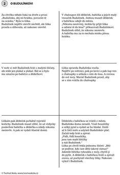 O Budulínkovi - text