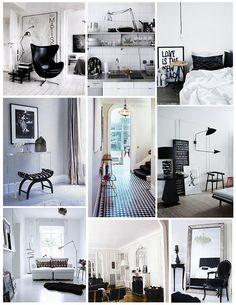 Идеальная пара для стильной композиции - изысканное сочетание глубокого чёрного и ослепительного белого