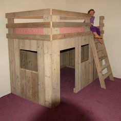 kids bed - I like the bottom area, just needs storage space