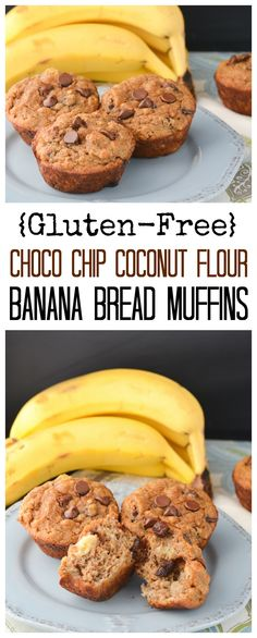 These Coconut Flour Banana Bread Muffins are gluten-free and packed with chunky banana and chocolate chips! They are perfect for breakfast or as a snack with a warm cup of tea! (Whole 30 Recipes Banana) Coconut Flour Banana Bread, Best Keto Bread, Coconut Flour Recipes, Banana Bread Muffins, Gluten Free Banana Bread, Gluten Free Chocolate, Delicious Chocolate, Banana Flour, Banana Almond Flour Muffins
