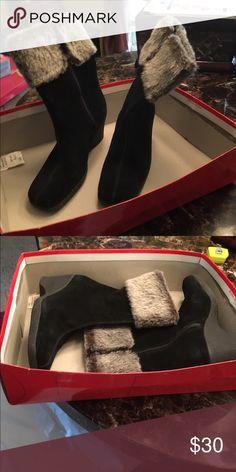 Aerosoles  Black Boots NWOT Beautiful Comfortable Wedge Boots AEROSOLES Shoes Winter & Rain Boots