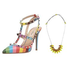 SHOESDAY // Confession: we'd make it about 2 metres in these heels before toppling over. BUT we still love them!  We'd pair them with the South Pacific Frangipani Necklace. Shop on www.rubyolive.com.au #rubyolive #shoesday #colourmad