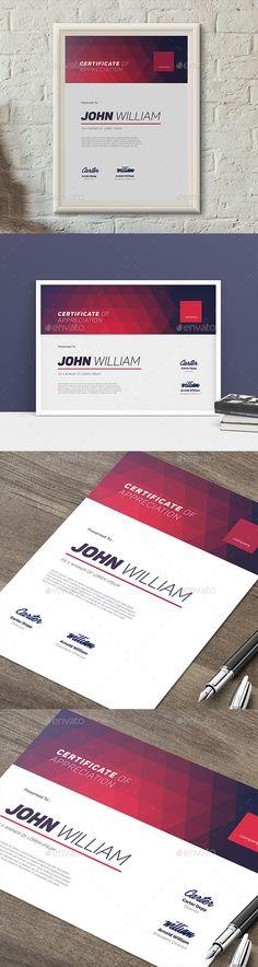 Modern Certificate 03  — PSD Template #minimalist #modern • Download ➝ https://graphicriver.net/item/modern-certificate-03/19035989?ref=pxcr