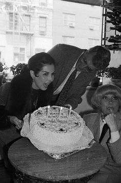Broadway star in 'Sugar Babies,' Ann Miller celebrates her 57th birthday at with Best Wishes from Rock Hudson and Carol Channing April 8, 1980.