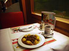 ドイツの食堂車でドイツ料理を食べてみた / ハンブルグ~ベルリン