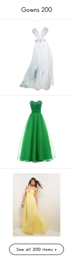 """Gowns 200"" by singlemom ❤ liked on Polyvore featuring gowns, dresses, gown, long dress, long bridesmaid dresses, green bridesmaid dresses, prom gowns, prom dresses, long green dress and floor length dresses"