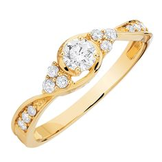 0.39 Carat TW Diamond Bridal Ring from Michael Hill, Gorgeous